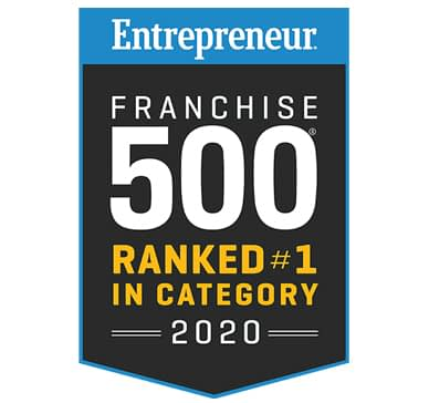 Entrepreneur Franchise 500 #1 in category award winner logo