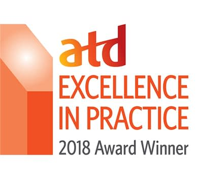 Logo for the ATD Excellenece in Practice 2018 award