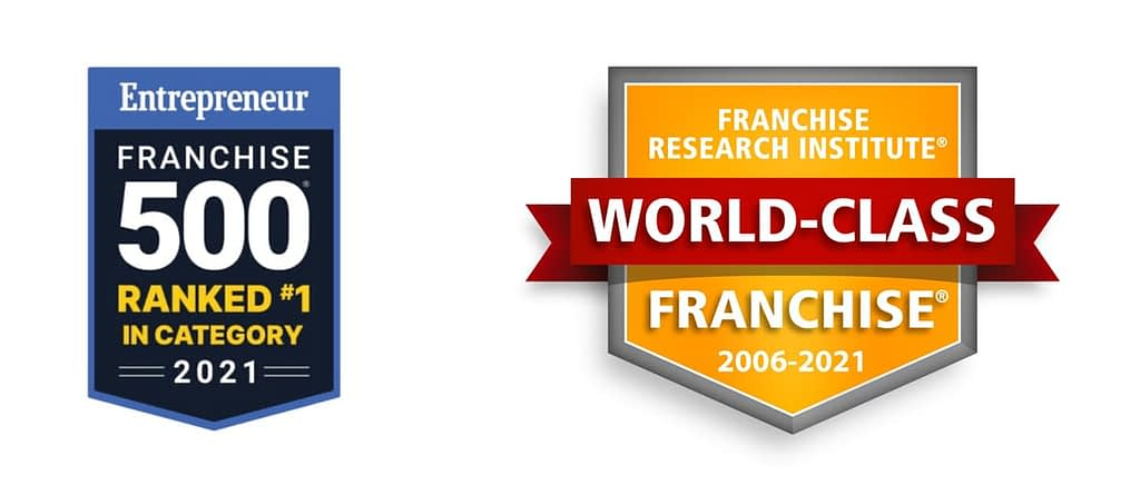 Entrepreneur Franchise 500 Ranked #1 in Category 2021   Franchise Research Institute World-Class Franchise 2006-2021