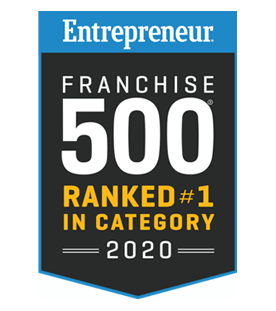 Crest for the Entrepreneur Franchise 500 ranked #1 in Category 2020 award