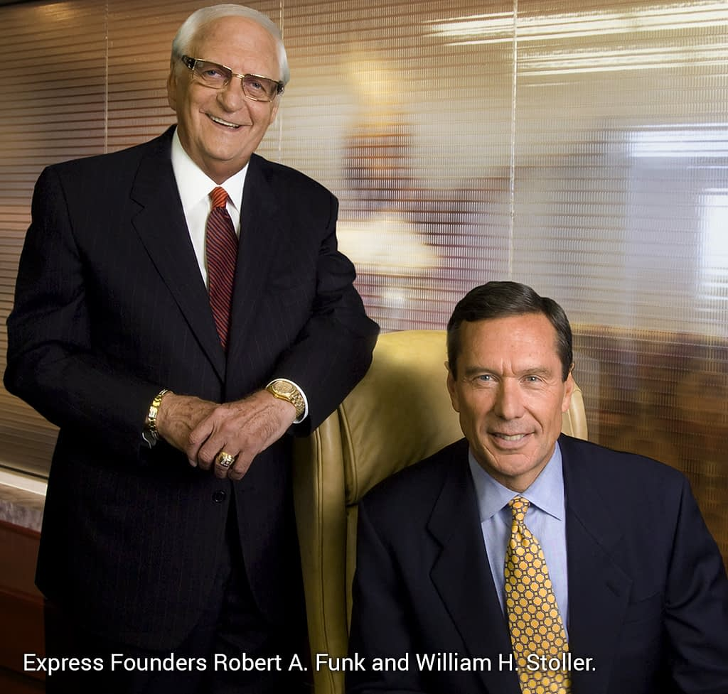 Express Founders Robert Funk and William Stoller