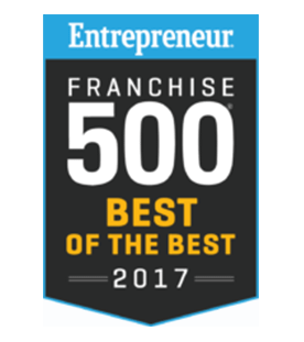 Entrepreneur Franchise 500 Best of the Best 2017 award winner crest