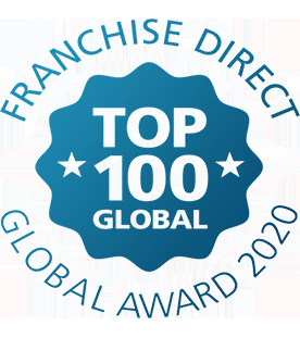 Logo for the Franchise Direct Top 100 Global Award 2020