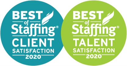 Best of Staffing: Client and Best of Staffing: Talent, ClearlyRated (2020) award logo