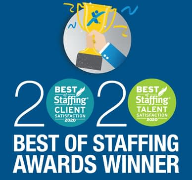 2020 Best of Staffing Award Winner Logo
